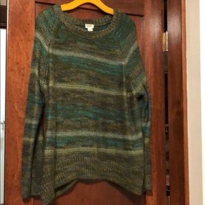 Mossimo supply Co women's green sweater size XL